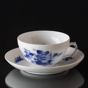 Blue Flower braided tea cup, large