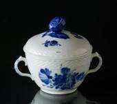 Blue Flower, Braided, large Sugar Bowl, with lid, Royal Copenhagen