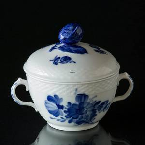 Blue Flower, Braided, large Sugar Bowl, with lid, Royal Copenhagen | No. 1107159 | Alt. 10-8142 | DPH Trading