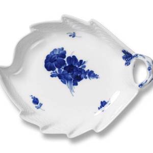 Blue Flower, braided, leaf-shaped pickle dish, small 19cm | No. 1107356 | Alt. 10-8001 | DPH Trading