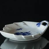 Blue Flower, Braided, Leaf Shaped Pickle Dish, Royal Copenhagen 23cm