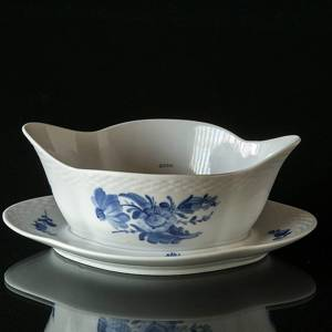 Blue Flower, Braided, Sauce boat on fixed stander | No. 1107563 | Alt. 10-8159 | DPH Trading