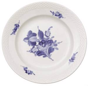 Blue Flower braided, flat plate ø19cm
