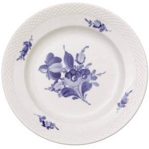 Blue Flower braided, flat plate ø19cm | No. 1107619 | Alt. 10-8094 | DPH Trading