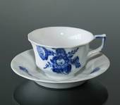 Blue Flower, Angular, Tea Cup and saucer, Royal Copenhagen