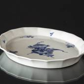 Blue Flower, Angular, oval Cake Dish 30cm