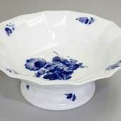 Blue Flower, Angular, Salad Bowl on low foot