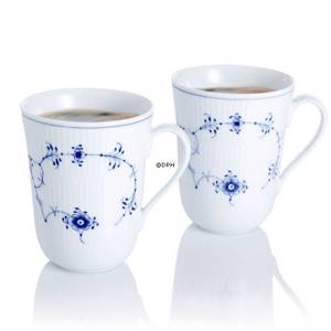 Blue Fluted, Plain, mugs, capacity 33 cl., set of two, Royal Copenhagen | No. 1111031 | DPH Trading
