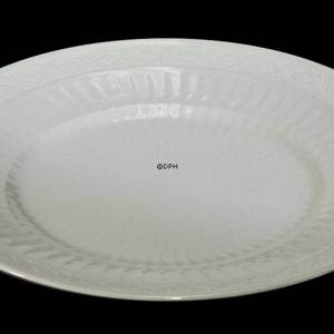 White Fan, 27cm plate, Royal Copenhagen