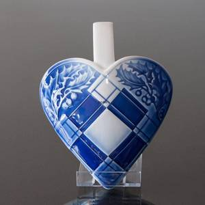 Braided Porcelain Heart, Blue and White, Bing & Grondahl
