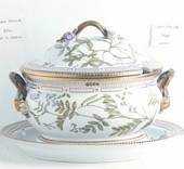 Flora Danica soup tureen, oval, capacity 500 cl, width 250 mm, Royal Copenh...