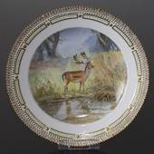 Fauna Danica Hunting service plate, with deer, Royal Copenhagen