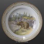 Fauna Danica plate with bear, Royal Copenhagen