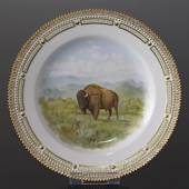 Fauna Danica plate with bison, Royal Copenhagen