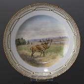 Fauna Danica plate with red deer, Royal Copenhagen