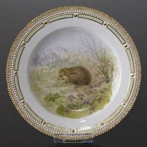 Fauna Danica Hunting Service plate with hedgehog, Royal Copenhagen