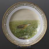 Fauna Danica Hunting Service, Birds plate with partridge, Royal Copenhagen