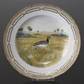 Fauna Danica Hunting Service, Birds plate with little bustard, Royal Copenh...