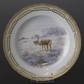 Fauna Danica Hunting Service plate with reindeer, Royal Copenhagen