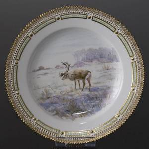 Fauna Danica Hunting Service plate with reindeer, Royal Copenhagen | No. 1141624-5 | DPH Trading