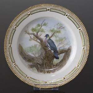 Fauna Danica Hunting Service, Birds plate with wood pigeon, Royal Copenhagen | No. 1141624-6 | Alt. 240-3549-6 | DPH Trading