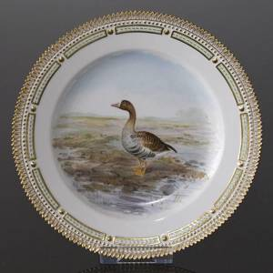 Fauna Danica Hunting Service, Birds plate with greater white-fronted goose,...