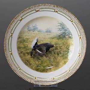 Fauna Danica Hunting Service, Birds plate with black grouse, Royal Copenhag...