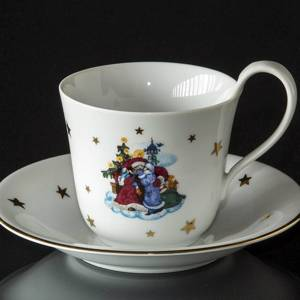 1988 Jingle Bells high handle cup with saucer, Royal Copenhagen | Year 1988 | No. 1177502 | DPH Trading
