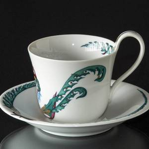 1988 Jingle Bells high handle cup with saucer, Royal Copenhagen