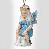 Christmas Figurine Ornament 2003, Snow Fairy with mice