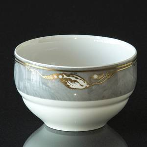 Magnolia, Grey with Gold, Sugar bowl without cover, capacity 27 cl