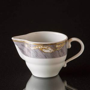 Magnolia, Grey with Gold, Large Cream Jug, capacity 16 cl, Royal Copenhagen | No. 1211394 | DPH Trading