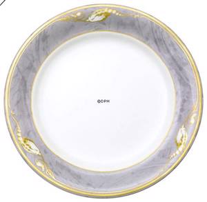 Magnolia, Grey with Gold, Plate, Royal Copenhagen