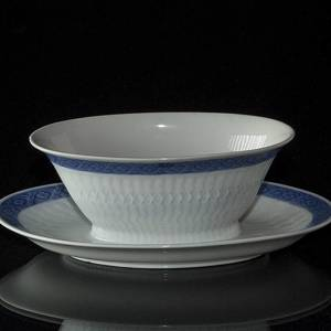 Blue Fan Sauce Boat, Royal Copenhagen | No. 1212-11550 | DPH Trading