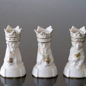 Three wise men, candlesticks, set of 3, Caspar, Melchior, Balthazar, Royal ...