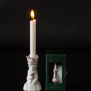 Balthazar, king with myrrh, one of the three wise men, Royal Copenhagen candle stick | No. 1243335 | DPH Trading