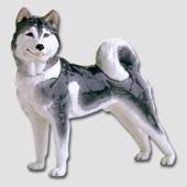 Siberian Husky, Royal Copenhagen dog figurine