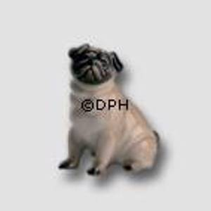 Pug, Royal Copenhagen dog figurine