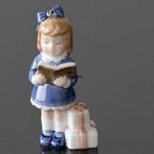 The Children's Christmas 1999, Figurine Ornament, Girl with book, and ...