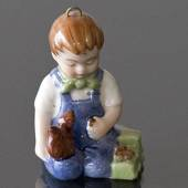 The Children's Christmas 2001 Christian, Figurine Ornament, Boy with Squire...