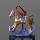 Figurine Ornament 2002, The Rocking Horse, Royal Copenhagen