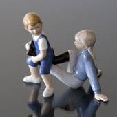 Horseriding, Girl and Boy, Royal Copenhagen figurine