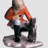 Girl with Cat, Royal Copenhagen figurine