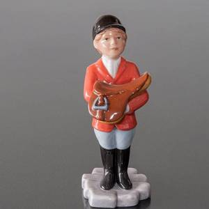 Girl with Saddle, Royal Copenhagen riding figurine