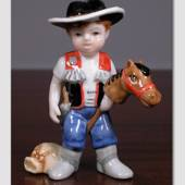 Thomas the little Cowboy, From the series of mini children from Royal Copen...