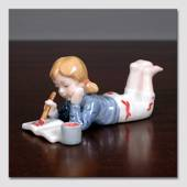 Sarah Girl painting, one in a series of minichildren from Royal Copenhagen ...