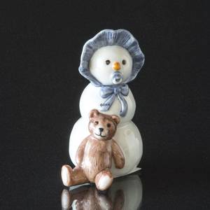 Snowman Boy with Teddy, Royal Copenhagen winter figurine | No. 1249019 | Alt. 1249019 | DPH Trading