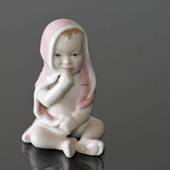 Baby girl sitting, Royal Copenhagen figurine