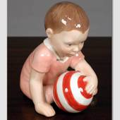 Girl with Ball, Royal Copenhagen baby figurine