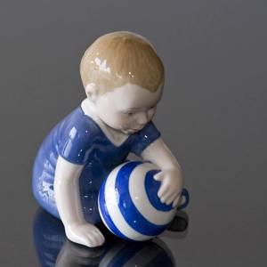 Baby boy with ball, Royal Copenhagen figurine